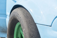 Texture of slick tire Stock Images