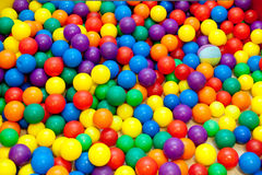 Colored balls. Texture of small colored balls Royalty Free Stock Images