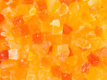 Texture of small pieces dried fruits. Multicolor texture of small pieces dried fruits Stock Photography