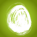 Texture smear in the form of Easter eggs on a gree Royalty Free Stock Image
