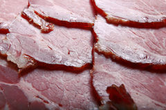 Texture of smoked fresh  meat Stock Image
