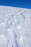 The texture of the snow. Snow texture formed by a strong wind Royalty Free Stock Images