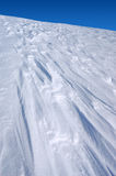 The texture of the snow. Snow texture formed by a strong wind Royalty Free Stock Photo