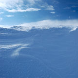 The texture of the snow. Snow texture formed by a strong wind Stock Images