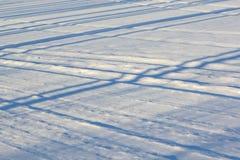 Texture of snow Stock Photo