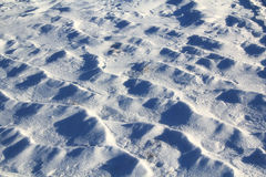 The texture of the snow. The beautiful texture of the snow in the middle of February Stock Photography