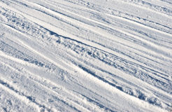Texture of the snow Stock Photo