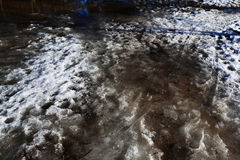 Texture of the snow-covered ground Royalty Free Stock Image
