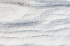 Texture with snow dunes Stock Photo