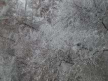 Texture snow fell on the street white royalty free stock images