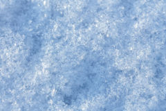 The texture of the snow surface Royalty Free Stock Image