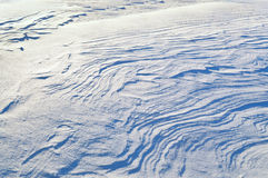The texture of the snow. Surface without a trace of man Stock Photos
