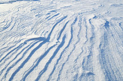 The texture of the snow surface. Without a trace of man Royalty Free Stock Photos