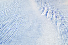 The texture of the snow. Surface without a trace of man Royalty Free Stock Images