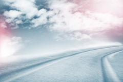 The texture of the snow. Winter background. Royalty Free Stock Photo