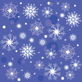 Texture of the Snowflakes Stock Photos