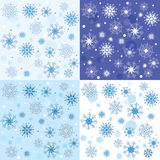 Texture of the Snowflakes Stock Photography