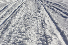 Texture snowy country roads Royalty Free Stock Photography