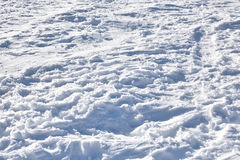 Texture of snowy ground Stock Image