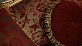Texture of the sofa. Texture of the red sofa stock footage