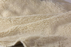 Texture of soft artificial fur fabric close-up Stock Photography