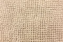 Texture of soft beige rug royalty free stock images