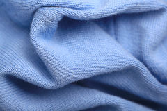 Texture of soft blue  sweater Royalty Free Stock Images