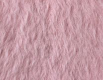 Texture of soft pink fleecy fabric (angora) Stock Images