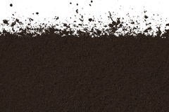 Texture of soil isolated on white background. Clean brown texture of soil isolated on white background Royalty Free Stock Photography