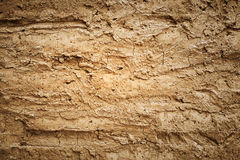 Texture of soil wall of traditional house Stock Photography