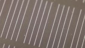 The texture of the solar battery. The texture of the surface of the solar old battery power source stock footage