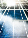 Texture of Solar cell battery panel. With selected focus filling frame Royalty Free Stock Photos