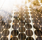 Texture of Solar cell battery panel. With sunshine Royalty Free Stock Photography
