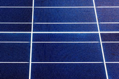 Texture of a solar panel closeup Royalty Free Stock Photos