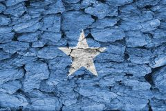 Texture of Somalia flag. The texture of Somalia flag on a decorative dry tree bark stock image
