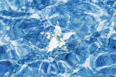 Texture of Somalia flag horizontal. Texture of Federal Republic of Somalia flag in the pool, water. Splashes royalty free stock photos