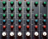 Texture of sound mixer. Techno design stock photo