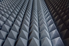 Texture soundproof panels in perspective. Triangles of the same Stock Images