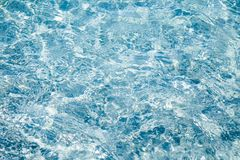 Texture of sparkling blue water. Royalty Free Stock Photography