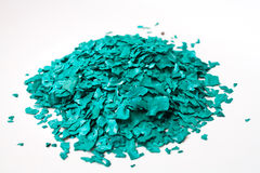 The Texture of Spirulina Sun Dried Flakes Product Royalty Free Stock Images