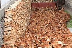Texture of split logs Royalty Free Stock Image
