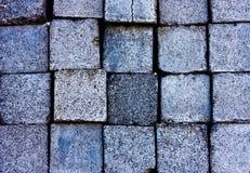 Texture of square granite blocks Royalty Free Stock Photos