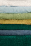 Texture a stack of colorful towels Royalty Free Stock Photos