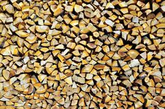 Texture stack of firewood close-up photo Stock Images