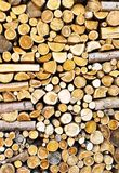 Texture of a stack of wood. With irregular logs in the Italian countryside Royalty Free Stock Images