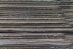 Texture of stacked corrugated cardboard Royalty Free Stock Photos