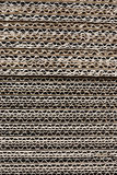 Texture  stacked of industrial cardboard Royalty Free Stock Photos