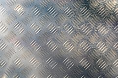 Texture of stainless steel floor plate Royalty Free Stock Photography