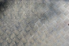 Texture of stainless steel floor plate Stock Images