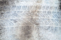 Texture of Stains and Tire Tracks on Concrete Royalty Free Stock Images